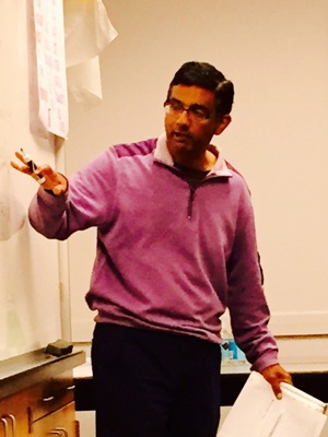 Dinesh D'Souza teaching English (Courtesy Dinesh D'Souza)