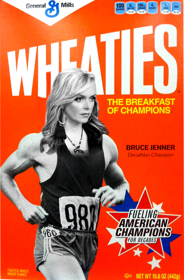 Bruce Jenner finds his way onto the breakfast tables of America.