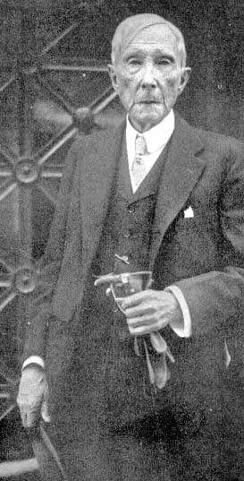Standard Oil co-founder John Davison Rockefeller, the grandfather of David Rockefeller