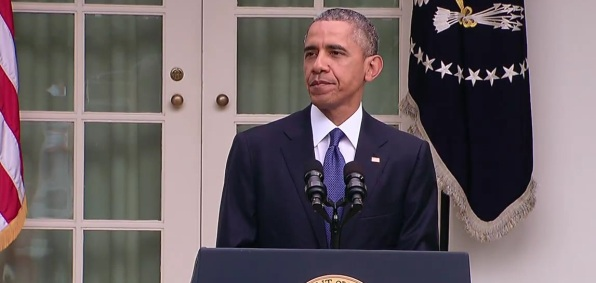 President Obama speaks to the nation after the Supreme Court ruling on marriage (Screen shot from WhiteHouse.govideo)