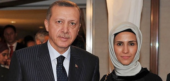 Turkish President Erdogan and daughter Sumeyye Erdogan