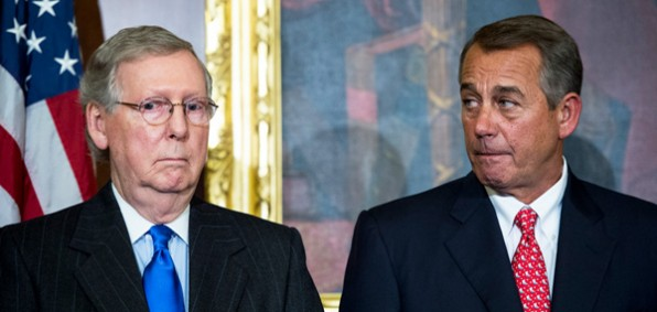 Senate Majority Leader Mitch McConnell and House Speaker John Boehner