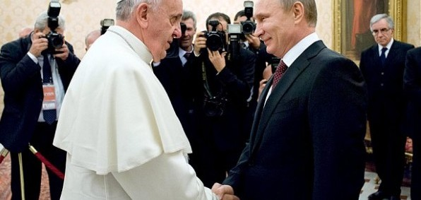 Pope Francis meets Russian President Vladimir Putin at the Vatican in 2013