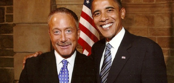 Terry Bean with President Obama