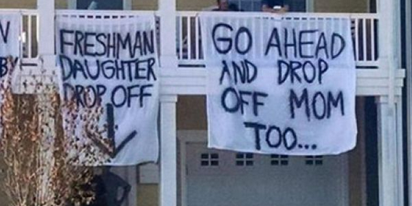 Banners hung at one Old Dominion University fraternity caused an outcry.