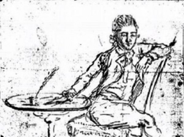 British spy John André, self-portrait, before his execution