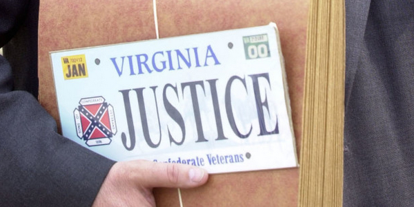 Virginia recalled license plates with the Confederate emblem.