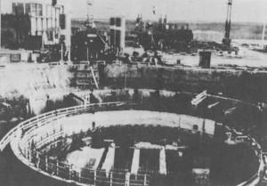 Iraq's Osirak nuclear reactor under construction