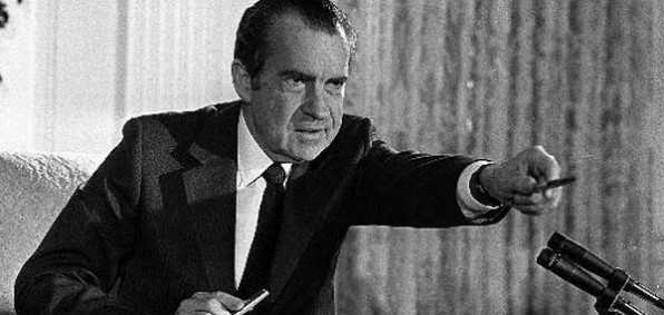 President Nixon during the Watergate scandal
