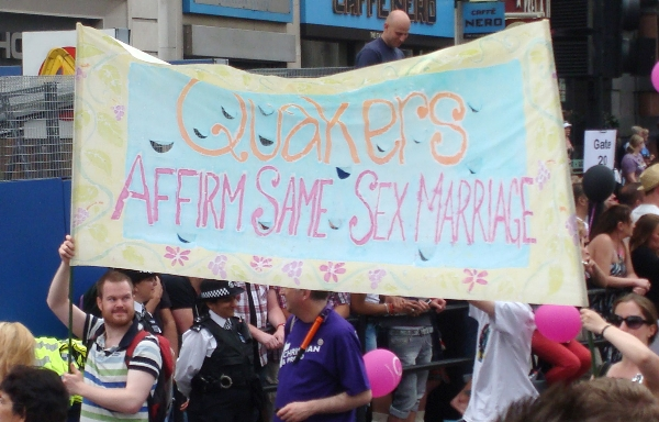 Quakers at a London Pride festival in 2011.