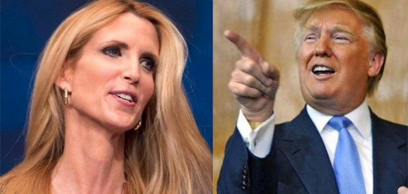 Ann Coulter (left) and Donald Trump (right)