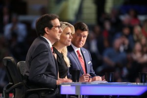 Fox News debate moderators, Chris Wallace, Megyn Kelly and Bret Baier