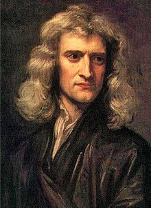 Sir Isaac Newton at about age 45.