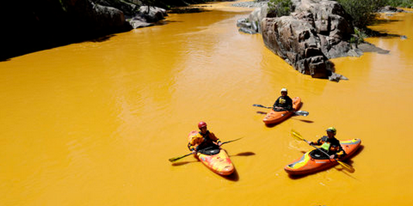 The EPA's mishap turned a river yellow-orange.