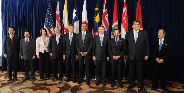 Leaders of TPP member states in 2010