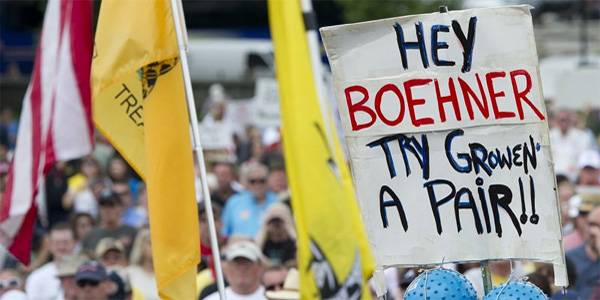 The tea party is losing luster in Americans' eyes.