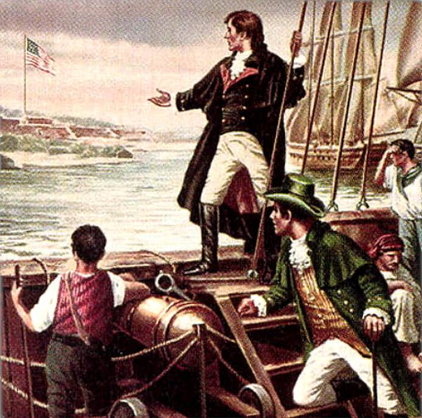 Francis Scott Key after the bombing of Fort McHenry