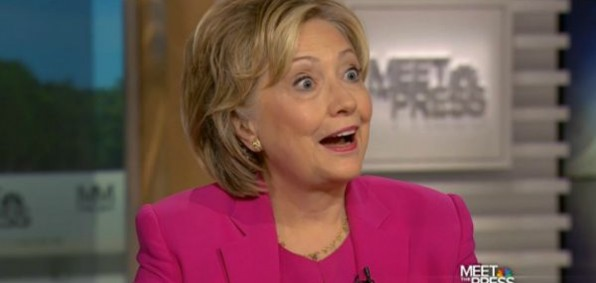 "Hillary Clinton  (Image: NBC, ""Meet the Press"" screenshot)"