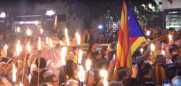 Rally for Catalonian independence