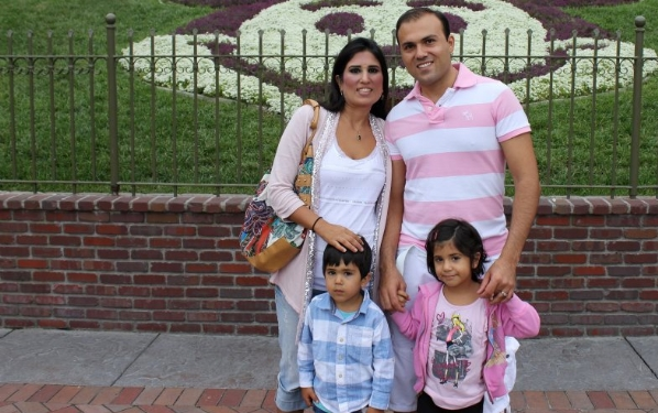 Pastor Saeed Abedini with wife Naghmeh and children Jacob and Rebekkah.