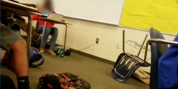 An officer in South Carolina is under fire for a classroom struggle with a female student. (Image credit: Screen shot CNN)