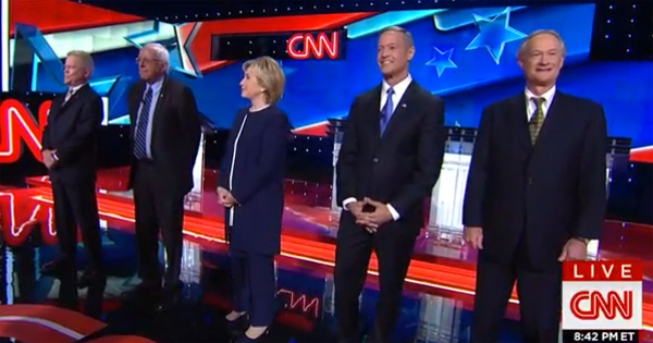 hillary unhinged rails at gop in democratic debate