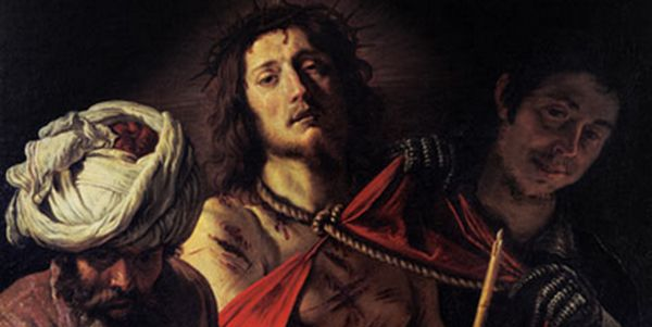 "Portion of Domenico Feti's painting ""Ecce Homo"" (""Behold the Man"")"