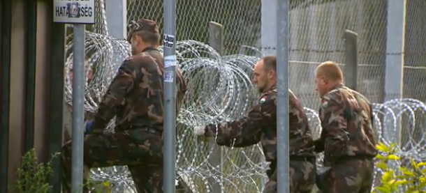 The Hungarian government has successfully closed off its border to Syrian migrants (Photo: CBS News screenshot)