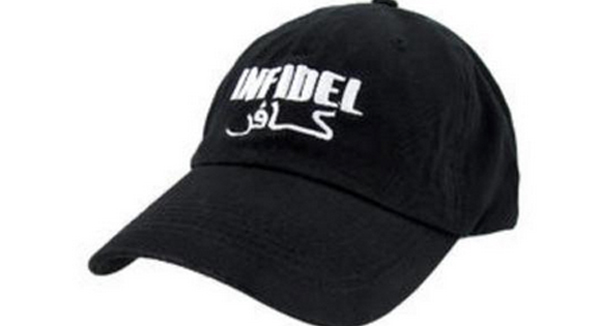 39e56137c42 Yanked infidel hat too hot for sears wnd jpg 600x326 Accessories arabic  word for infidel
