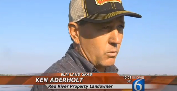Texas rancher Ken Aderholt (Image: KAUZ-6 Texas screenshot)