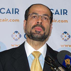 Nihad Awad, executive director of CAIR (VOA Photo/M. Elshinnawi)