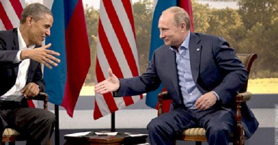 Former President Barack Obama and Russian President Vladimir Putin