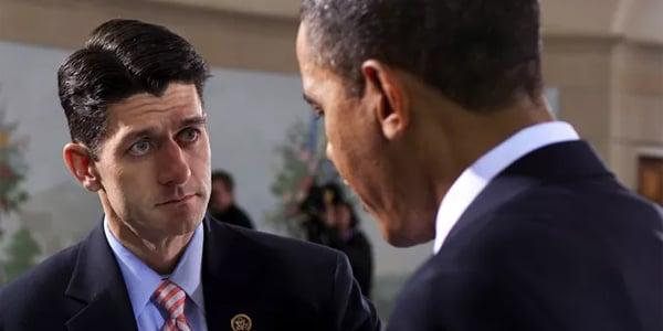 Rep. Paul Ryan and President Barack Obama (White House photo)