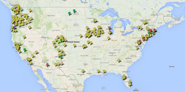 A map of the more than 300 sanctuary cities in the U.S.
