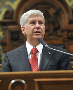 Michigan Gov. Rick Snyder wants Obama to send Syrian refugees to his state.