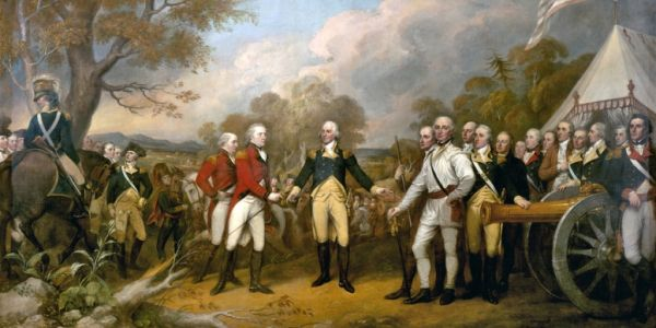 """Surrender of General Burgoyne"" by John Trumbull"