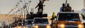 Toyota trucks seem a favorite of ISIS (Credit: CBS News, from video released by group)