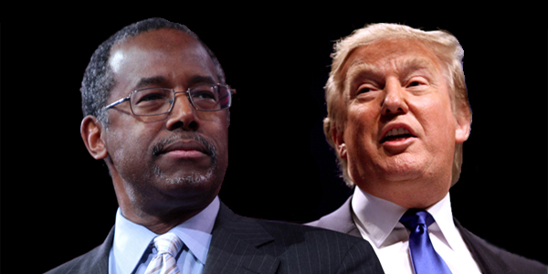 Dr. Ben Carson (left) and Donald Trump (right)