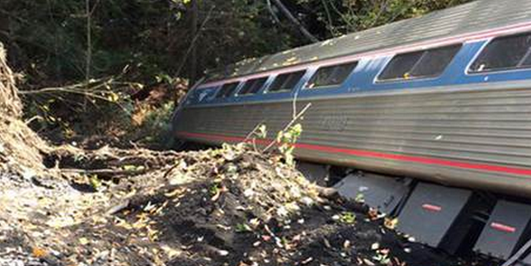 An Amtrak train derailed, injuring several.