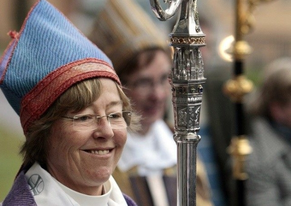 Lesbian bishop: 'Remove crosses from church'