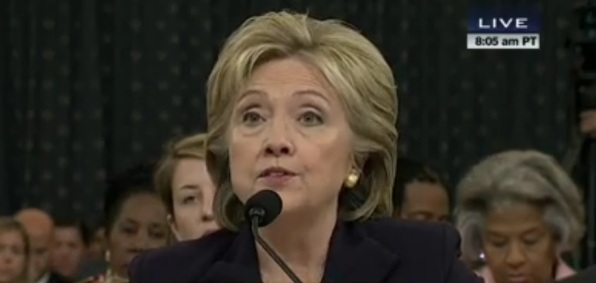 Former Secretary of State Hillary Clinton testifies before House Select Committee on Benghazi