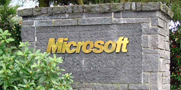 Main entrance at Microsoft corporate campus (Photo: Wikipedia, public domain)