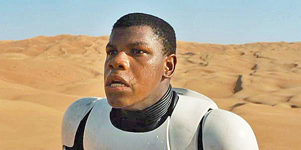 "Actor John Boyega in ""Star Wars: The Force Awakens"""