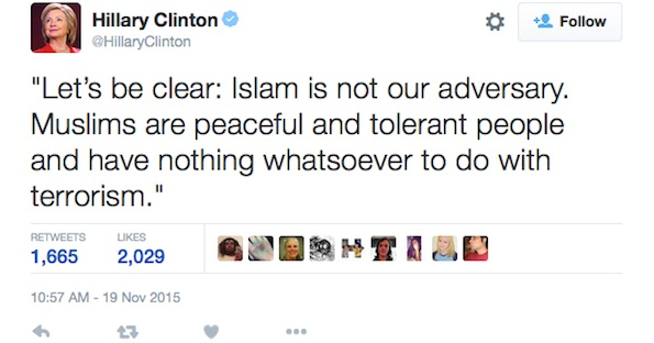 Hillary Clinton Muslims