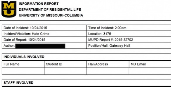 MU police report
