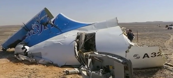 Metrojet Airbus 321-200 was downed by ISIS in Egypt's Sinai Desert, Oct. 31, 2015 (Photo: CBS screenshot)