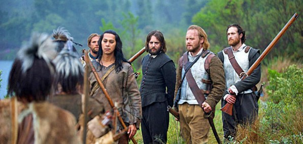 "The story of the Pilgrims meeting Native Americans is retold in 2015 in the TV movie ""Saints & Strangers"" (courtesy National Geographic Channels)"