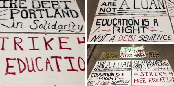 Students around the nation called for free education via a planned rally. (Credit: Twitter)