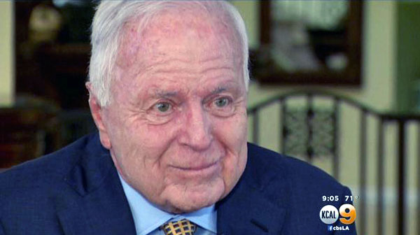 Former Los Angeles Mayor Dick Riordan (KCAL-TV screenshot)