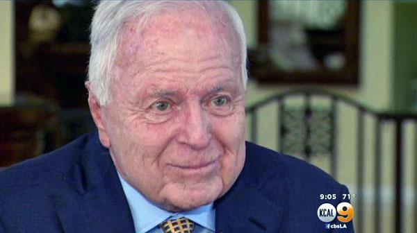 Former Los Angeles Mayor Dick Riordan (KCAL-TV screenshot)